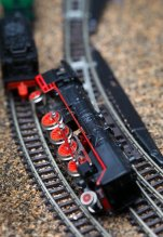 Model train derailment