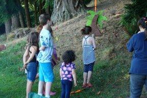 Children playing with Pinata