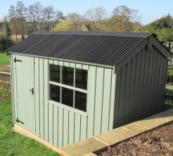 Corrugated Sheeting on Crane Garden Shed