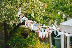 bunting for a garden party