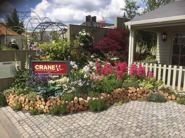 Bedding plants on Crane Garden Buildings stand at RHS Chelsea Flower Show 2016