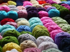 balls of bright, colourful yarn