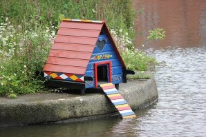 strange garden building - duck home