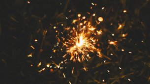 Sparkler on Bonfire Night