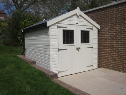 Superior Shed in Cream