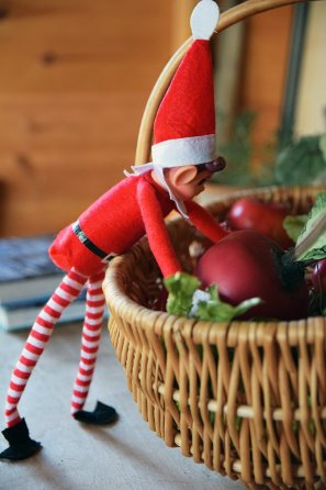 Our Elf is tending to plants, just like you could in your own Superior Shed turned Potting Shed