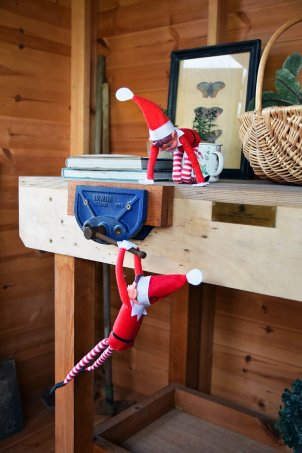 Our Elves are having lots of fun in our Superior Shed