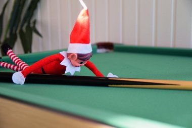 You can use our Salthouse Studio for a number of different purpose, even a games room, as demonstrated by our elf