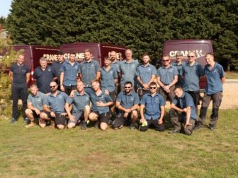 The Crane fitting team