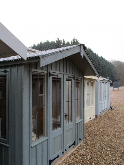 National Trust Summerhouse in Frost