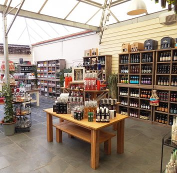 The selection of drinks that are available to buy at the Burford Garden Company