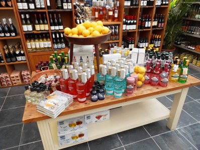 A selection of gins at Burford Garden Company