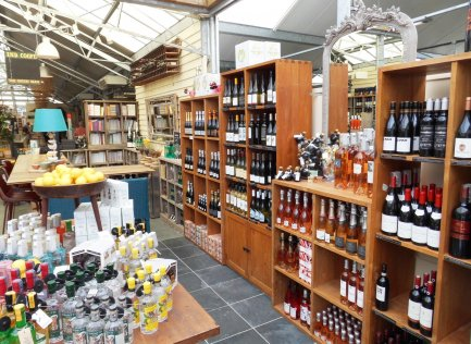 A selection of wines at Burford Garden Company