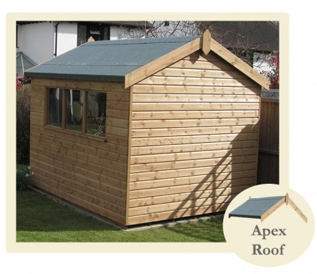 A Superior Light Oak Shed with Apex Roof