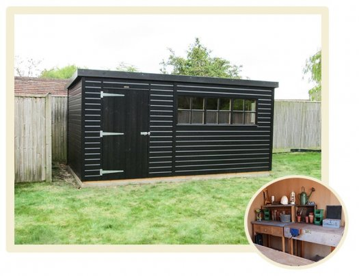 A Superior Shed in a Black Sikkens Stain with Apex Roof