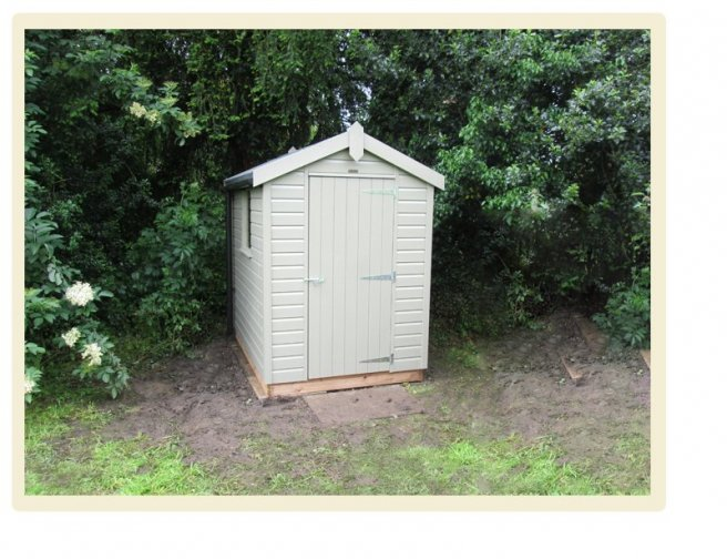 A Classic Shed with an Apex Roof