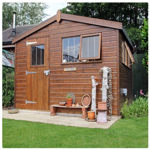 The exterior of this 3.6 x 3.0m Superior Shed