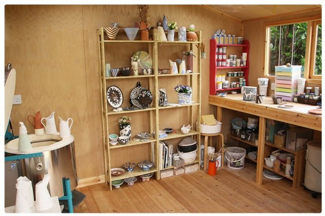 The Interior of our customer's beautiful pottery shed