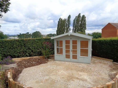 Blakeney Summerhouse just after installation