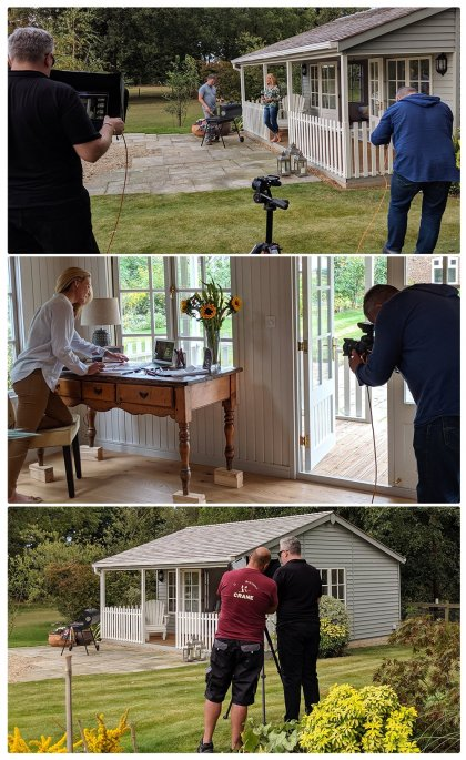 Behind the scenes of the Pavilion Garden Room shoot day