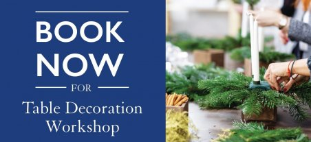 Book now on a Hillier Table Decoration Workshop