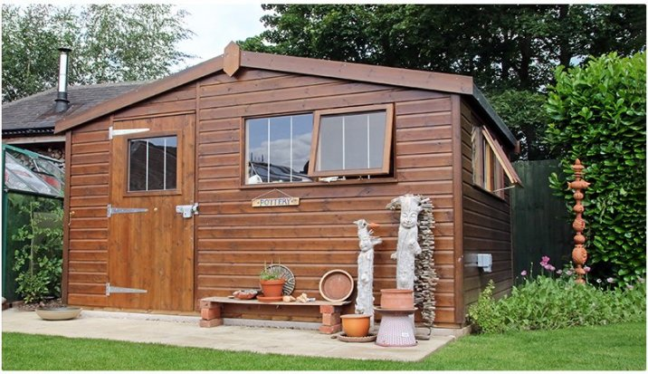 Superior Shed turned Pottery Shed