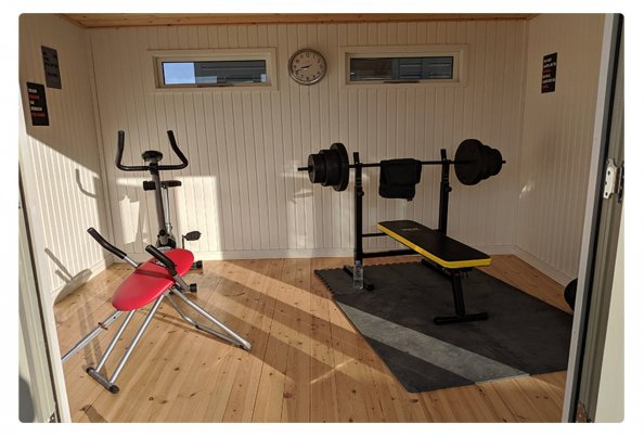 Example Home Gym Inside Our Salthouse Studio