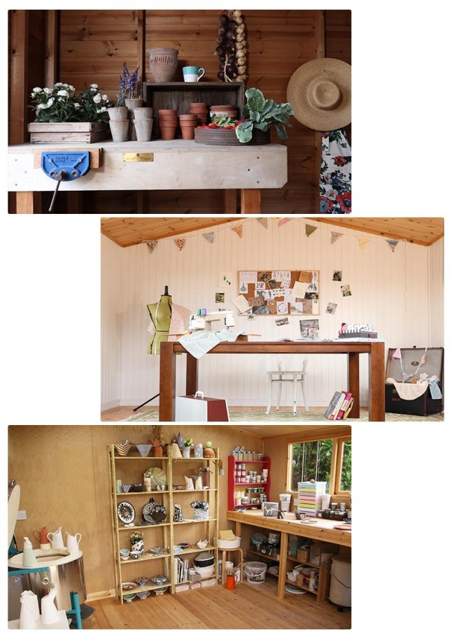 An example of what you can use your 'She Shed' for