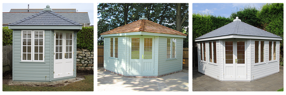 A 2.4 x 2.4m, a 3.0 x 3.0m & a 3.6 x 3.6m Weybourne Summerhouse