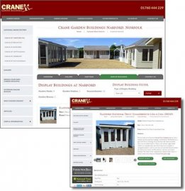 Site Display Buildings Section on Website