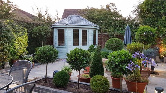 A Wiveton Summerhouse in a newly landscaped garden
