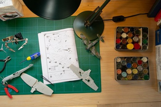Working On Painting Model Planes Inside your own Workshop