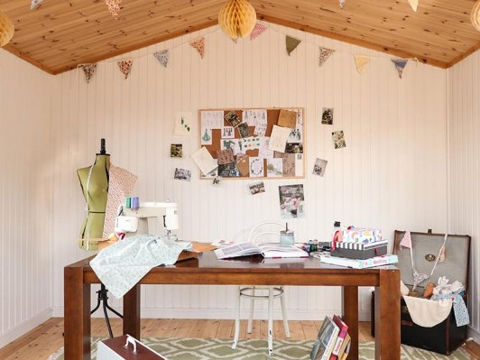 Craft Room set up inside our Binham Studio