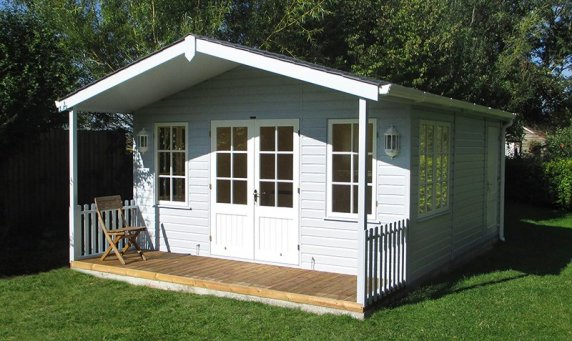 Our Morston Summerhouse is designed with a veranda. The Building can be unlined making it purely for summer use or fully lined and insulated for year-round use