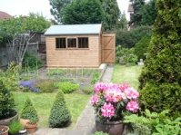 Potting shed in garden