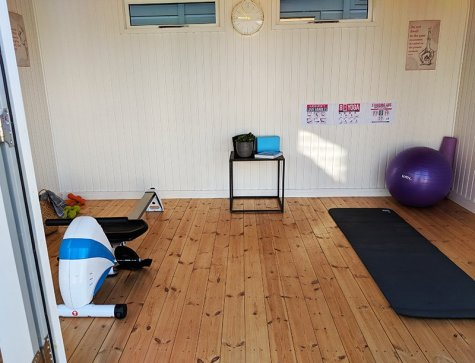 You can turn your garden gym studio into a combination space to home all of your favourite workouts