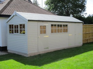 A Large 2.4 x 6.0m Superior Shed in Pebble