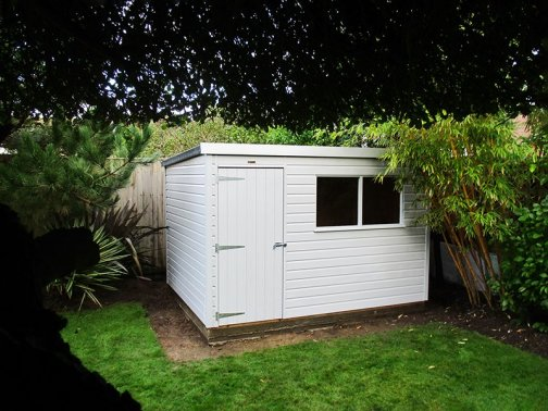 2.4 x 3.0m Classic Shed in Smoke