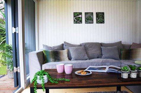 A living area setup inside our Holt Studio