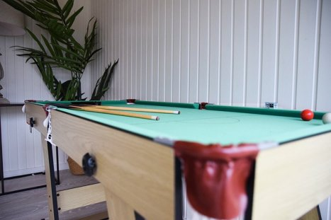 A Pool Table Inside Our Salthouse Studio
