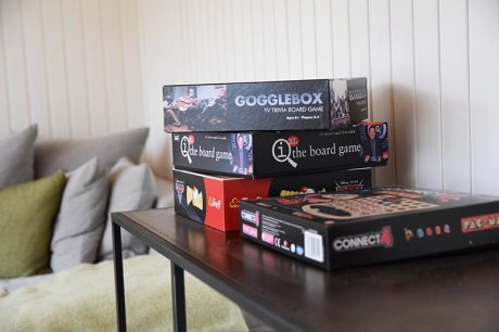 A selection of board games inside our Salthouse Studio