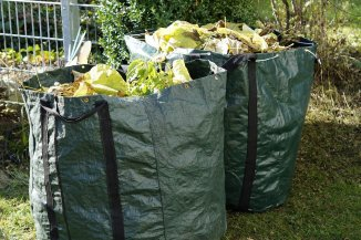 Garden Waste in bags ready for composting