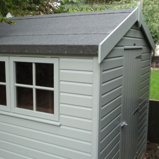 Attractive Superior Shed in Sage