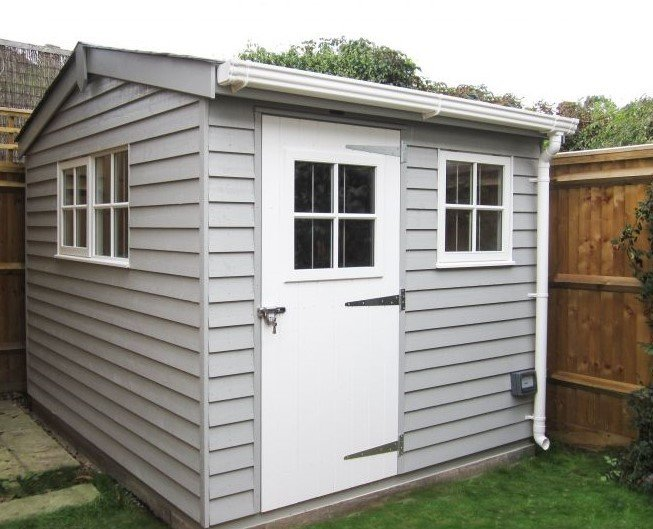 White Guttering Superior Garden Shed