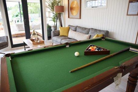 Pool table inside a Holt Studio