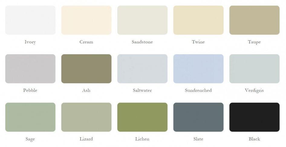 Valtti paint external colour range