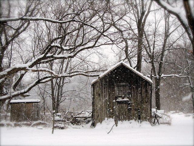 Snowy Winter Building
