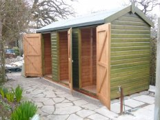 Superior shed with partitions