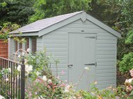Apex Roof Superior Shed with grey-slate effect roof tiles