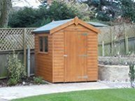 Superior Shed in Sikkens Walnut stain
